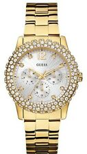 Guess Womens Metal Bracelet Stainless Steel Quartz W0335L2 Ladies Gold Plated