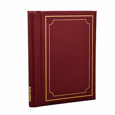 Large Burgundy Spiral Bound Self Adhesive Photo Albums 72 Sides - SM72RD