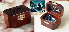 CLASSIC OCTAGON WOOD WIND UP MUSIC BOX : Harry Potter Hedwig's Theme