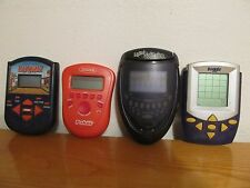Lot of 4 different old handheld games