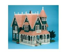 NEW Large Vintage Victorian Mansion Dollhouse Kit Wood Removable Roof Doll Toys