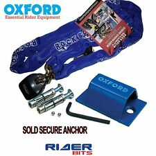 RS 1.8M CHAINLOCK & OXFORD SOLDSECURE GROUND WALLANCHOR MOTORBIKE CYCLE SECURITY