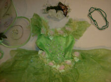 Disney Fairy Tinkerbell costume girl dress up L 10 11 12 Deluxe