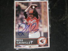 Ross Grimsley Baltimore Orioles Giveaway Signed Ball and Baseball Card  j3