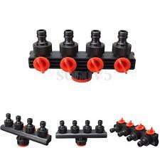 Garden Water Tap Splitter Adaptor Quick Thread Hose Pipe Connector Adapter 4 Way