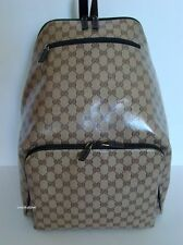 NEW GUCCI BEIGE/ BROWN GG CRYSTAL MONOGRAM X-LARGE BACKPACK UNISEX