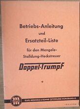Mengele Stalldung  Heckstreuer Doppel Trumpf Betriebsanleitung + Ersatzteilliste