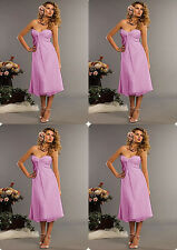 Sales Promotion Purple Short Cocktail Party Gown Ball Evening Prom Dress Size 14