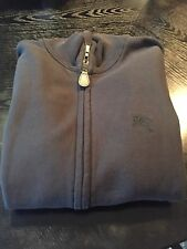 New Burberry Men Hearst Zip Up Sweater Sweatshirt Jacket Logo Knight Black M 275