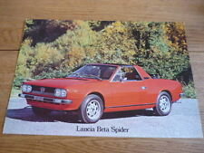 LANCIA BETA SPIDER CAR BROCHURE jm