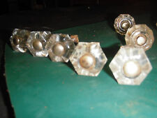 VINTAGE GLASS KNOBS--11 IN ALL
