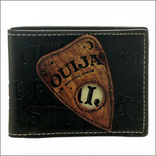 Ouija Game Spirit Board Planchette Embossed Black Bi-Fold Bifold Wallet LICENSED