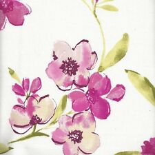 4 metres Rosemarie Pattern PINK Flower  Cotton Fabric For Curtain Upholstery