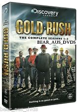 GOLD RUSH 1-3 (2010-2013) ALASKA - Discovery Channel TV Series NEW DVD UK not US