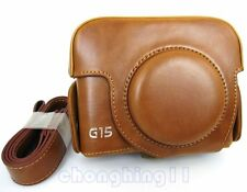 Leather Camera Case Bag Cover For Canon Powershot G15 G 15 CAMERA
