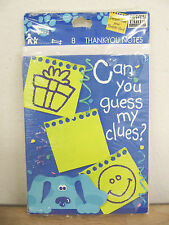NEW Hallmark Blue's Clues Dog Guess My Clues 8 Thank You Cards & Envelopes