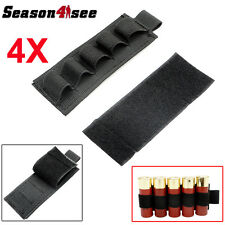 4X 5 Round Sticky Ammo Strip Shotgun Bullet Shell Holder Carrier 1000D Pouch BK