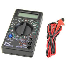 Easy LCD Digital Multimeter Ohm Voltmeter Ammeter AVO Meter DT830D Test Leads