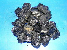 3 x Natural Rough Black Tourmaline Crystal Specimens Gemstone 30mm to 35mm