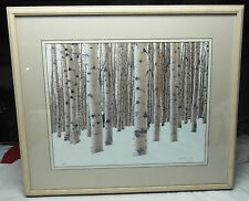 "Winter Aspens Limited Edition Framed Art Photo by Aaron Goldenberg 24""X27"" Frame"