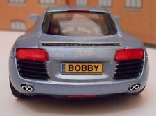 AUDI R8 ANY PERSONALISED PLATES DIE CAST Toy Car MODEL boy dad CHRISTMAS GIFT