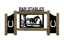 HORSES-CLINGERMANS OUTDOOR HORSE SIGNS-EQUESTRIAN-FARM AND RANCH #HORSE15241