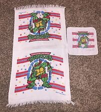 Vintage 90's Teenage Mutant Ninja Turtles Raphael Towel And Wash Cloth