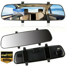 "Car HD 1080P 2.7"" Video Recorder G-sensor Dash Cam Rearview Mirror Camera DVR UL"