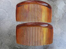 """Shell Brown Rounded Back Side Comb  29 Tooth 4 1/2"""" Comb  NEW  Made in USA"""