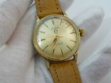 "WESTCLOX,Lasalle,Automatic,Gold Plated,Leather Band ""RARE!,MENS WATCH,1716,L@@K!"