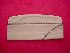 WWII US Army Air Corps AAC Piped Khaki Tan Worsted Wool Garrison Cap USAAC WW2