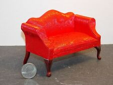 Dollhouse Miniature Queen Anne Loveseat Red 1:12 Inch Scale G57 Dollys Gallery