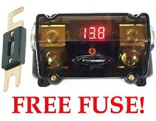 NEW 0/2 GAUGE DIGITAL VOLT METER ANL FUSE HOLDER FUSEHOLDER CAR AMP INSTALL GOLD