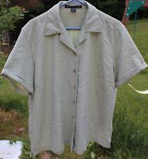 Women's Light Green Shirt by Devon & Jones; Size 2XL