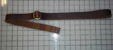 "Musket Sling 1 1/4"" wide Brass Buckle18thcenturyRepro Brown"