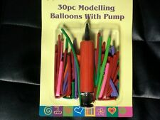30 x COLOURED MODELLING BALLOONS KIT SET WITH BALLOON PUMP KIDS PARTY CRAFT