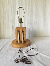 Nautical Wood Ship Pulley Rope Anchor Hunting Lodge Cabin Man-cave Lamp