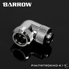 90 Degree Angle G1/4 T Rotary Compression Fitting For 14mm Rigid Tube Chromed