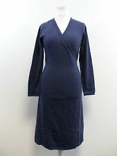 Pure Collection Blue Marl Knit Wrap Cashmere Dress Size UK 18 Box4448 M