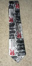GUITAR Electric Treble Clef Music Note Man's Neck Tie