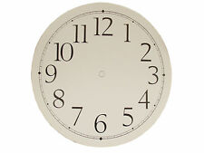 "New 9"" Adhesive White Paper Clock Dial with Arabic Numbers (C-600)"