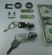 2 Euro Locks Chrome Cylinder Locks with Keys & Hardware Keyed Alike, Locksmith