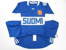 FINLAND AUTHENTIC BLUE 2016 WORLD CUP OF HOCKEY TEAM ISSUED ADIDAS JERSEY SZ 54