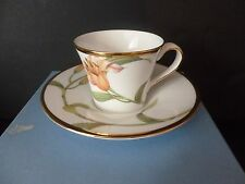 WEDGWOOD ENCHANTED GARDEN CUP AND SAUCER * BOXED MINT *