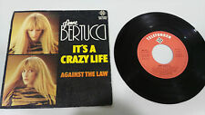 "ANNE BERTUCCI IT´S A CRAZY LIFE 1982 SINGLE 7"" VINYL SPANISH EDITION RARE"