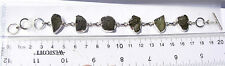 108 carats 6 MOLDAVITE BRACELET adjustable 8 inches down to 6 inch retail $250