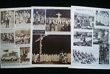 KU KLUX KLAN KKK MOVEMENT USA SAMUEL GREEN ETC 3 PAGES / ARTICLES 1928-1949