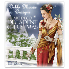 Debbi Moore Designs ~ Art Deco Decadent Christmas ~ Papercrafting CD Rom NEW