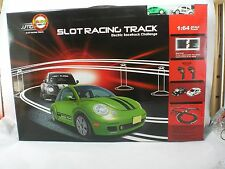 VW Beetle Bug Slot Car Racing Track Ho Scale Complete Set