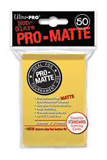 50 Ultra Pro-Matte Yellow Deck Protector Sleeves MTG Magic The Gathering